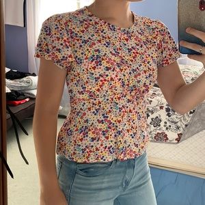 Colorful Flower T-Shirt/Crop Top